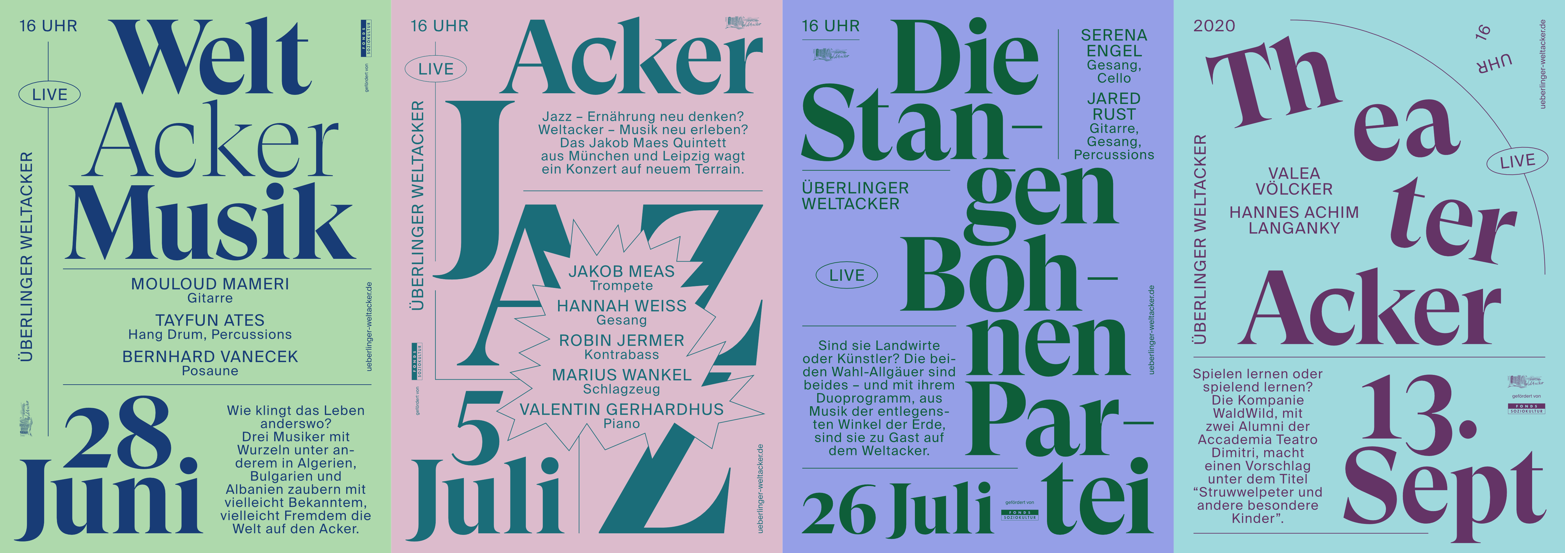 Weltacker Poster Alle Druck-Serie